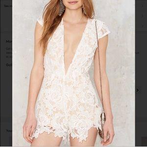 Take it to heart lace romper